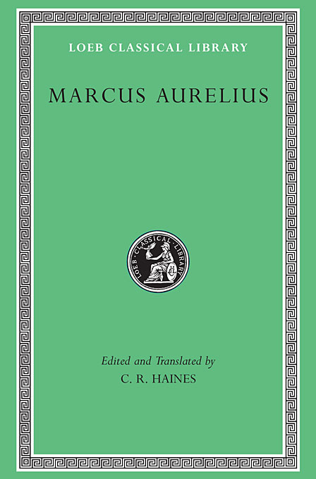Cover: Marcus Aurelius, from Harvard University Press