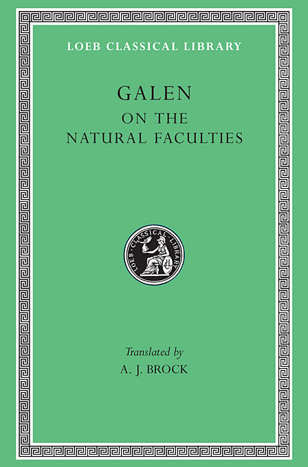 Cover: On the Natural Faculties, from Harvard University Press