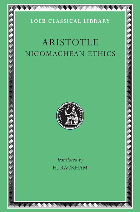Cover: Nicomachean Ethics, from Harvard University Press