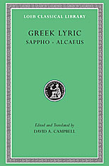 Cover: Greek Lyric, Volume I: Sappho and Alcaeus in HARDCOVER