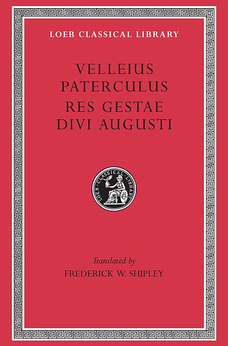 Cover: Compendium of Roman History. Res Gestae Divi Augusti, from Harvard University Press