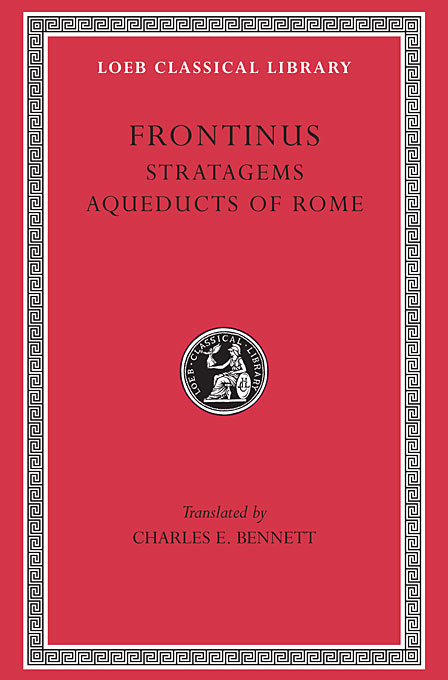 Cover: Stratagems. Aqueducts of Rome, from Harvard University Press