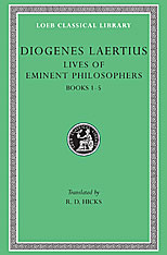Cover: Lives of Eminent Philosophers, Volume I in HARDCOVER