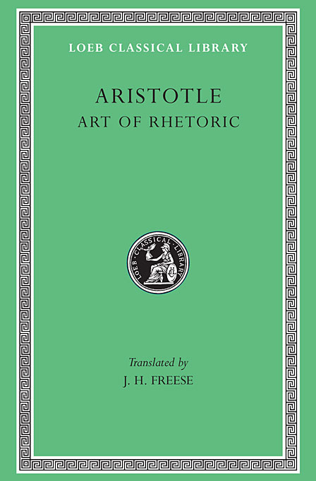 Cover: Art of Rhetoric, from Harvard University Press