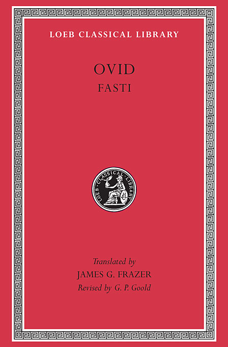 Cover: Fasti, from Harvard University Press