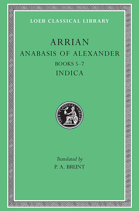 Cover: Anabasis of Alexander, Volume II: Books 5-7. Indica, from Harvard University Press
