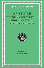 Cover: Athenian Constitution. Eudemian Ethics. Virtues and Vices in HARDCOVER
