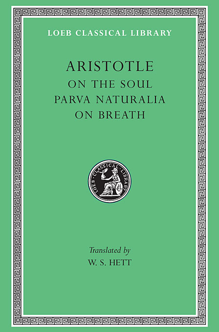 Cover: On the Soul. Parva Naturalia. On Breath, from Harvard University Press