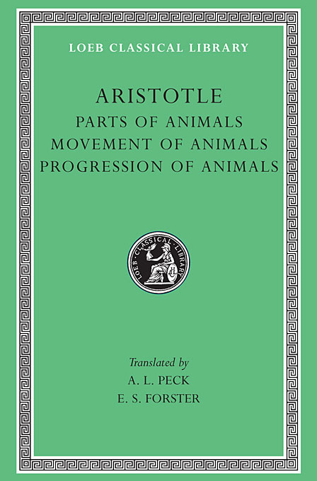 Cover: Parts of Animals. Movement of Animals. Progression of Animals, from Harvard University Press