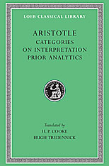 Cover: Categories. On Interpretation. Prior Analytics