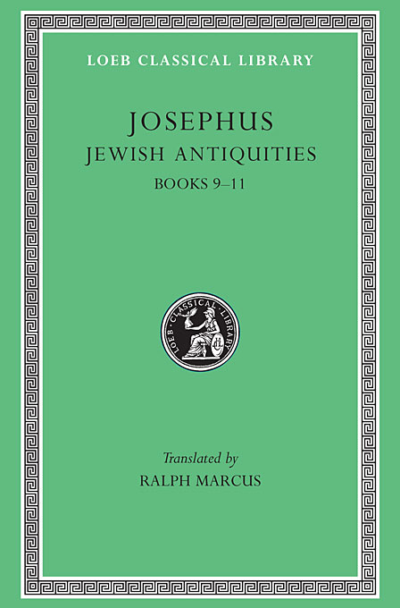 Cover: Jewish Antiquities, Volume IV: Books 9-11, from Harvard University Press