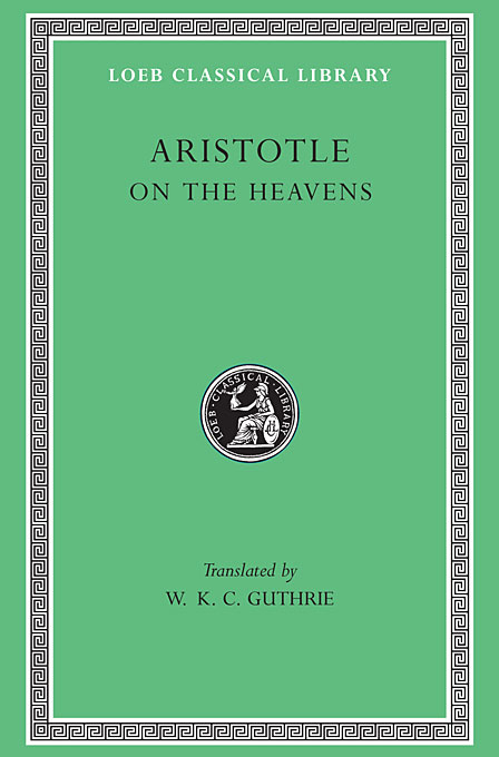 Cover: On the Heavens, from Harvard University Press