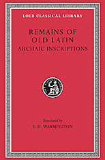 Cover: Remains of Old Latin, Volume IV: Archaic Inscriptions