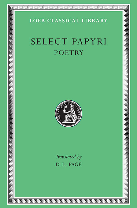 Cover: Select Papyri, Volume III: Poetry, from Harvard University Press