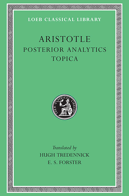 Cover: Posterior Analytics. Topica, from Harvard University Press