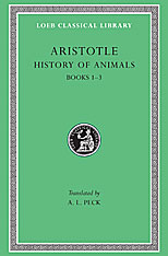 Cover: History of Animals, Volume I: Books 1-3