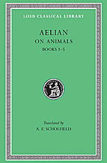 Cover: On Animals, Volume I: Books 1–5