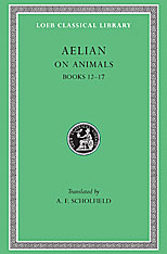 Cover: On Animals, Volume III: Books 12-17
