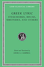 Cover: Greek Lyric, Volume III: Stesichorus, Ibycus, Simonides, and Others in HARDCOVER