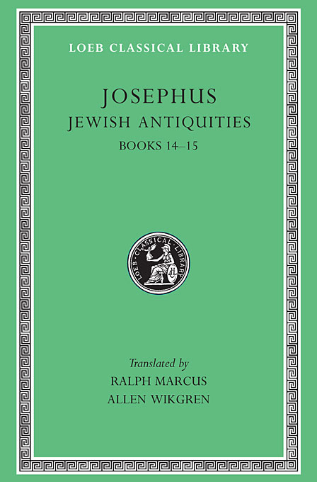 Cover: Jewish Antiquities, Volume VI: Books 14-15, from Harvard University Press
