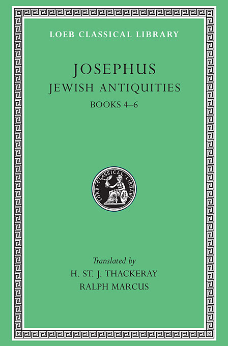 Cover: Jewish Antiquities, Volume II: Books 4-6, from Harvard University Press