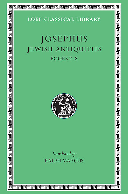 Cover: Jewish Antiquities, Volume III: Books 7-8, from Harvard University Press