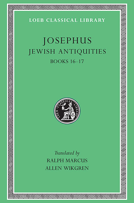 Cover: Jewish Antiquities, Volume VII: Books 16-17, from Harvard University Press