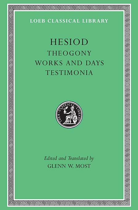 Cover: Theogony. Works and Days. Testimonia, from Harvard University Press