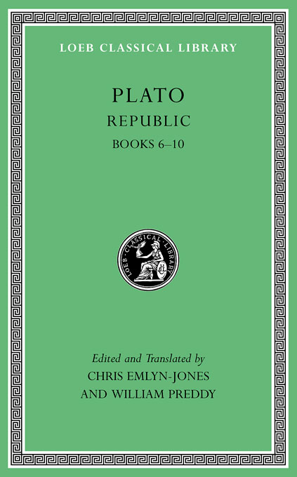 Cover: Republic, Volume II: Books 6-10, from Harvard University Press