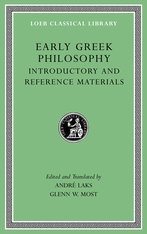 Cover: Early Greek Philosophy, Volume I: Introductory and Reference Materials
