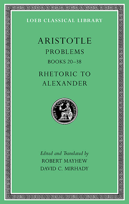Cover: Problems, Volume II: Books 20-38. Rhetoric to Alexander, from Harvard University Press