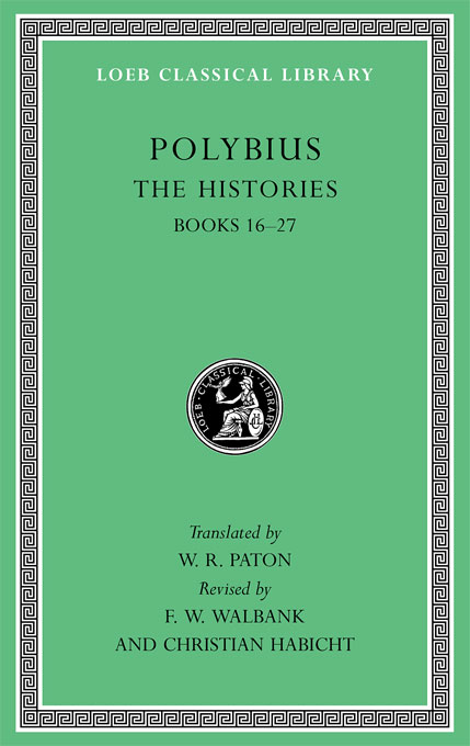 Cover: The Histories, Volume V: Books 16-27, from Harvard University Press