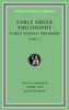 Cover: Early Greek Philosophy, Volume III: Early Ionian Thinkers, Part 2