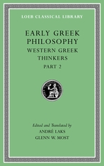Cover: Early Greek Philosophy, Volume V: Western Greek Thinkers, Part 2