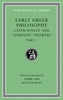 Cover: Early Greek Philosophy, Volume VI: Later Ionian and Athenian Thinkers, Part 1