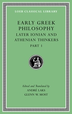 Cover: Early Greek Philosophy, Volume VI in HARDCOVER