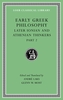 Cover: Early Greek Philosophy, Volume VII: Later Ionian and Athenian Thinkers, Part 2