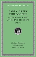Cover: Early Greek Philosophy, Volume VII in HARDCOVER