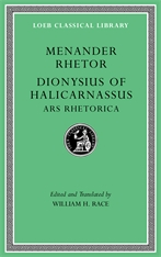 Cover: Menander Rhetor. Dionysius of Halicarnassus, Ars Rhetorica in HARDCOVER