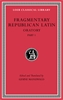 Cover: Fragmentary Republican Latin, Volume III: Oratory, Part 1
