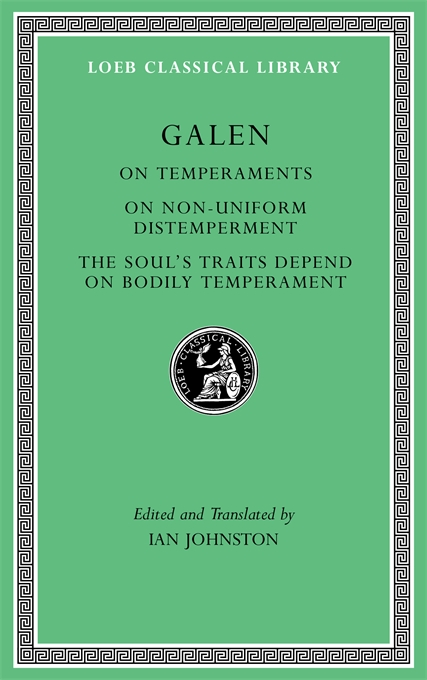Cover: On Temperaments. On Non-Uniform Distemperment. The Soul's Traits Depend on Bodily Temperament, from Harvard University Press
