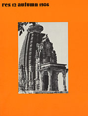 Cover: Res: Anthropology and Aesthetics, 12: Autumn 1986