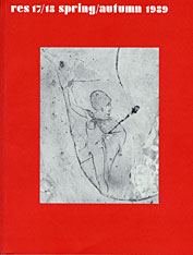 Cover: Res: Anthropology and Aesthetics, 17 & 18: Spring/Autumn 1989