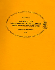 Cover: A Guide to the Measurement of Animal Bones from Archaeological Sites