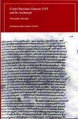 Cover: Codex Parisinus Graecus 1115 and Its Archetype