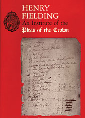 Cover: An Institute of the Pleas of the Crown: An Exhibition of the Hyde Collection at the Houghton Library, 1987