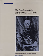 Cover: The Diariusz podrozny of Pylyp Orlyk, 1720-1726