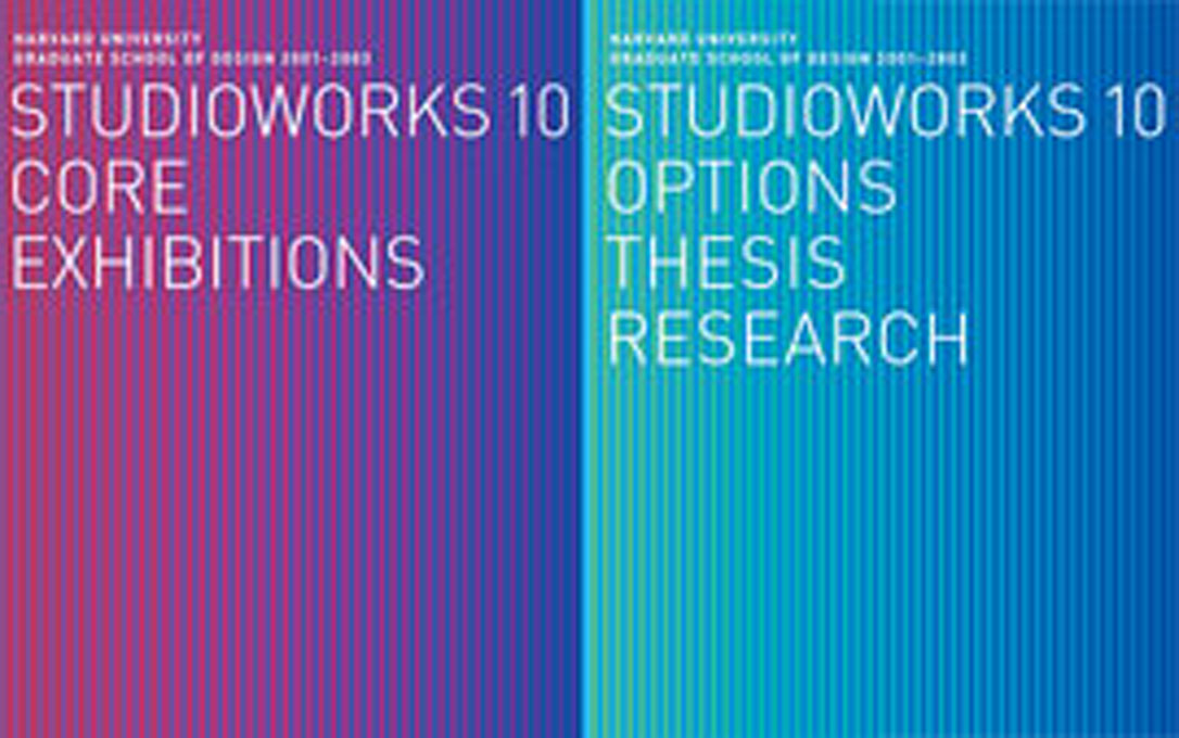 Cover: Studio Works 10, from Harvard University Press