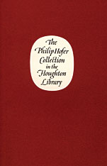 Cover: The Philip Hofer Collection in the Houghton Library in PAPERBACK