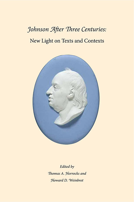 Cover: Johnson After Three Centuries: New Light on Texts and Contexts, from Harvard University Press